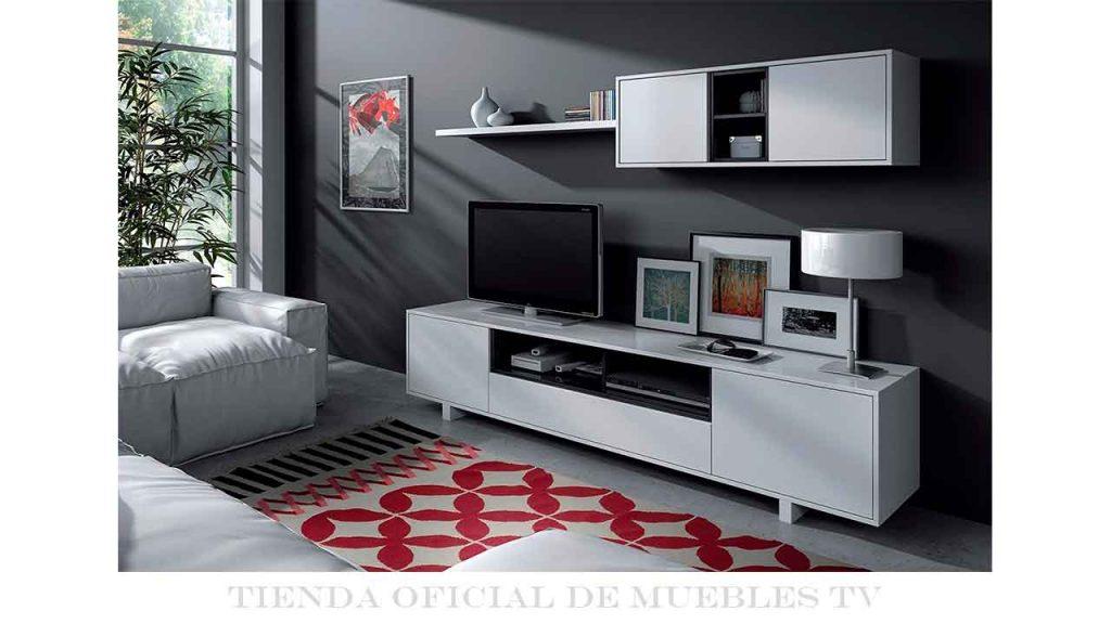 Mueble televisión blanco