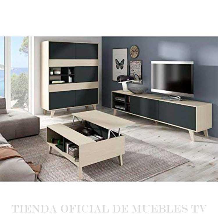 Mueble Tv Negro