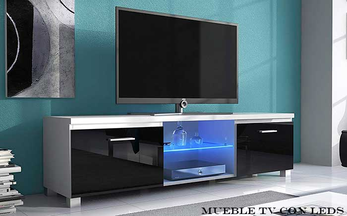 Mueble tv con luces led